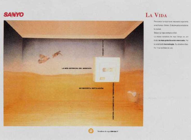 Read more: https://www.luerzersarchive.com/en/magazine/print-detail/sanyo-9766.html Sanyo Sanyo. The Life. Ads for a dryer, an air-purifier and an air-conditioner. Tags: Jaime Anglada,Lluis Morillas,Sanyo,Scacs, Barcelona,Carmen Cruz,Joan Tomas