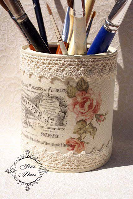 Upcycled/decoupage