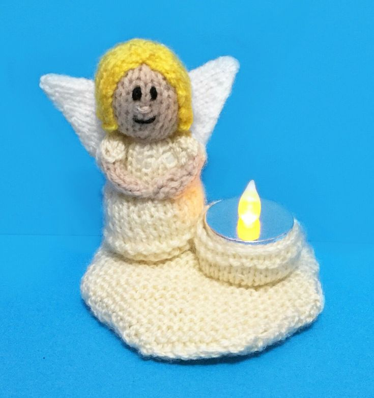 KNITTING PATTERN - Guardian Angel Tea Light Holder - Great ...