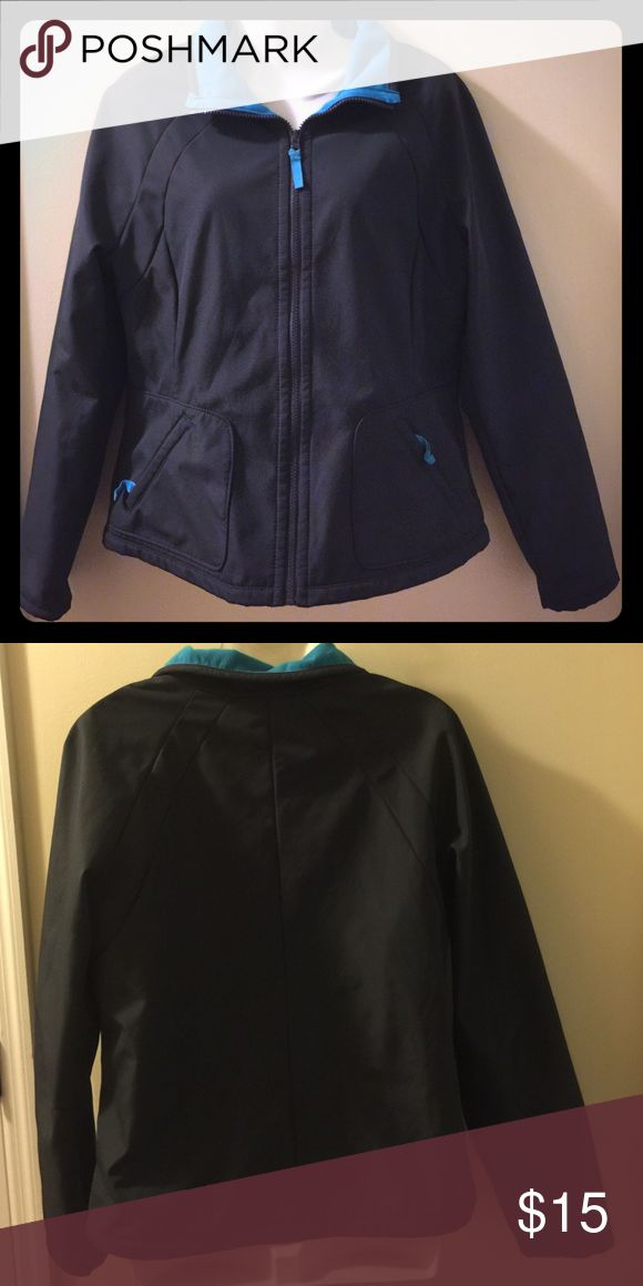Women's Old Navy zip-up jacket Women's Old Navy zip-up jacket. Size: Medium. 100% polyester with turquoise blue cloth inner lining. No flaws. Only worn once. Old Navy Jackets & Coats