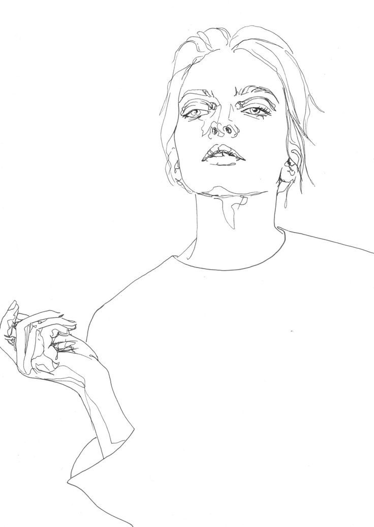 Simplistic one line drawing.