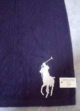 Polo Ralph Lauren Big Pony Designer Blue Guest / Gym Towel - BNWT - Gift Idea