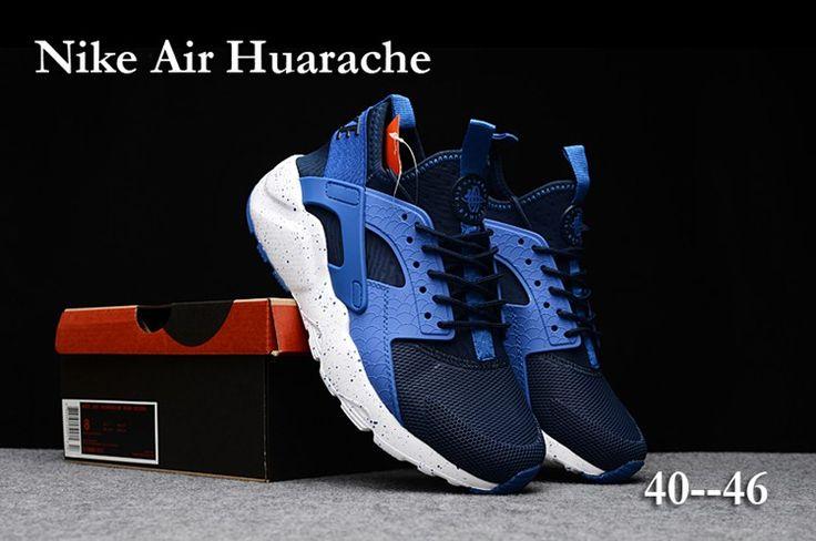 Nike Air Huarache Run Ultra PK4 Men Shoes Navy Blue