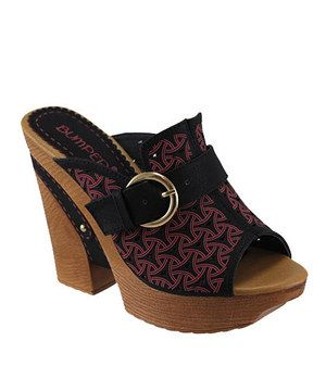 Look what I found on #zulily! Black Majestic Peep-Toe Sandal by Bumper #zulilyfinds