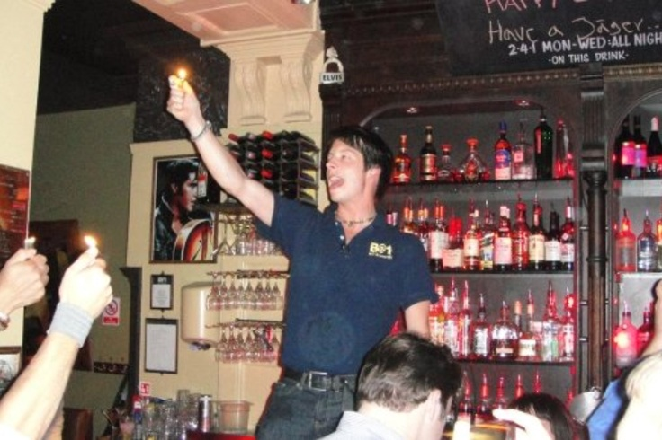 Singing to Michael Jackson with the bartenders and the patrons in B@1 in London, UK #PotentialistCanada