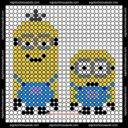 Minions Perler Bead Pattern