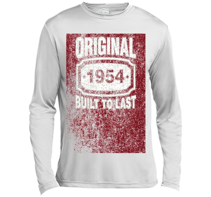 Distressed Original Built To Last Born In 1954 Birthday Tee