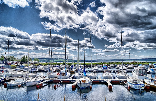 The harbor in Hamar ,Norway.