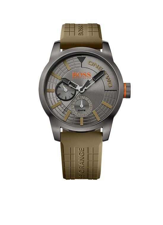 Hugo Boss Orange Tokyo HO1513308 - Horloge - Siliconen - Groen - 44 mm