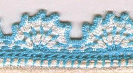 Free Knitting Patterns For Borders : Crochet Borders and Edgings ? Knitting Bee (10 free knitting ... Projects t...