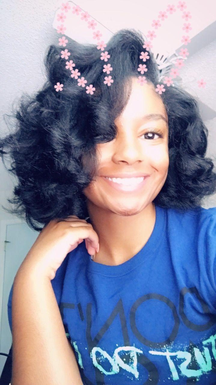 Natural Hair Flat Iron 4c 4b Straight Hair Black Girl