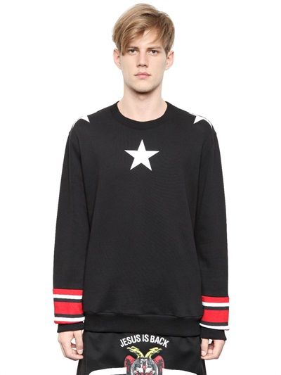 Black Sweat with the Classic White Star Print