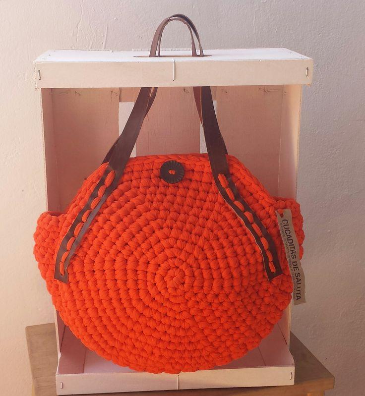 Bolso Redondo / Crochet  bag ¡ Glamour !