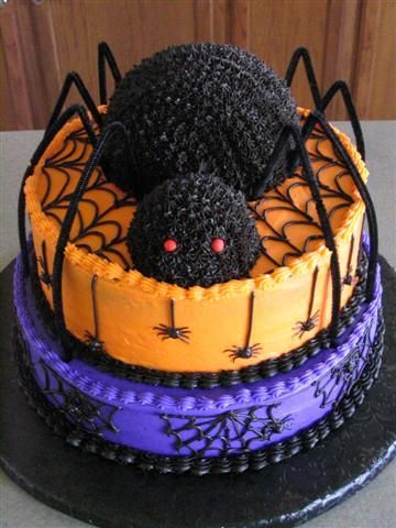 halloween spider birthday cakes