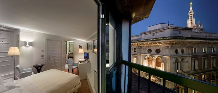"""UNA Maison Hotel Milano, best design hotel in Milan for #trivago. You can enjoy the direct view to the top of the dome, and the """"Madonnina""""  #milan #expo2015 #italy #hotel #luxury"""