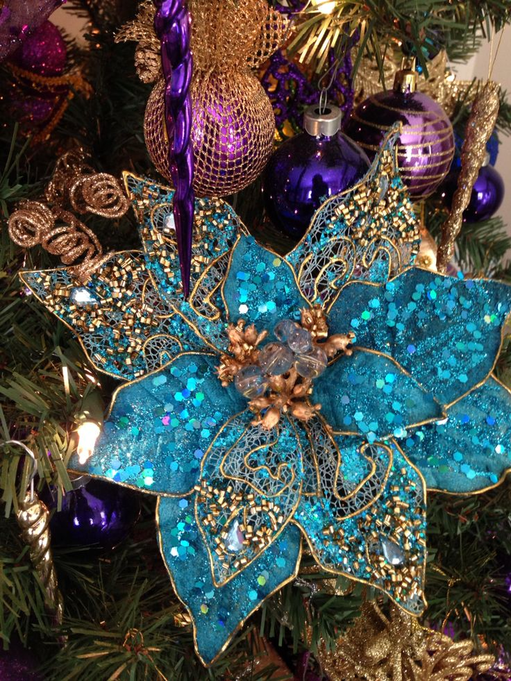 purple gold and teal christmas tree christmas pinterest trees christmas trees and teal. Black Bedroom Furniture Sets. Home Design Ideas