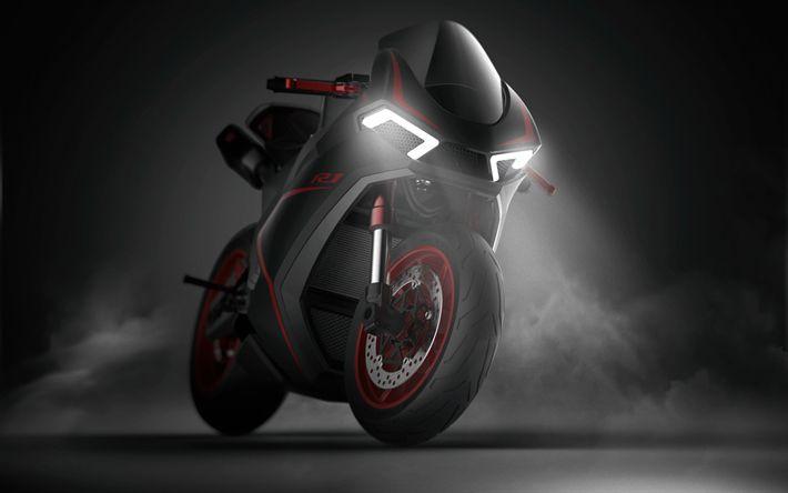 Download Hintergrundbilder Yamaha R1 Concept, Nacht, 2019 Motorräder, Superbikes, neue R1, Yamaha   – My desktop