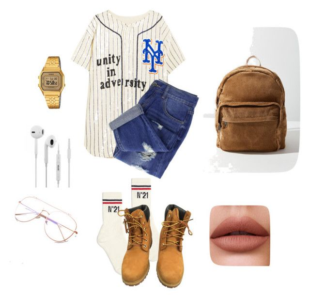 """""""Untitled #167"""" by ezerys on Polyvore featuring Ashish, N°21, Timberland, Urban Outfitters and Casio"""