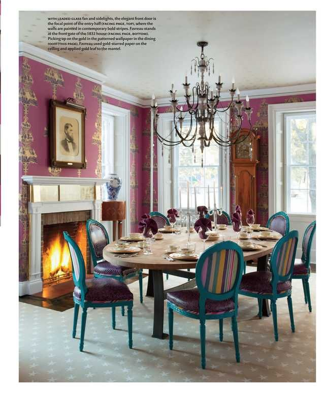 Designer steven favreau 39 s gorgeous dining room design new for New england dining room ideas