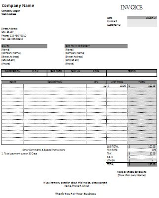 27 best Excel Business Invoices images on Pinterest Invoice - salary invoice template