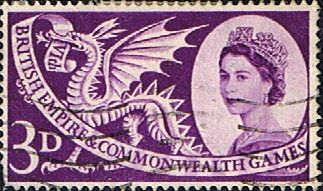Great Britain 1958 British Empire and Commonwealth Games SG 567 Fine Used Scott 338 Other British Stamps HERE