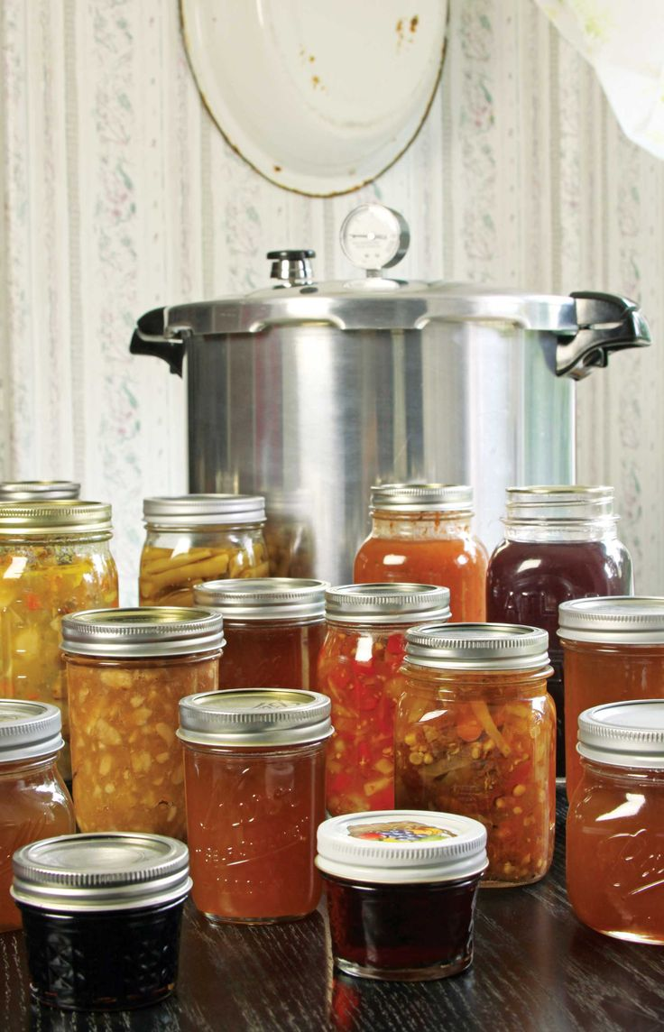 Canning food at home with a pressure cooker or water bath canning method is an important step in becoming more food self-sufficient. Learn how to make the most of your harvest while vegetables and fruits are at their peak flavor with these recipes and instructions.