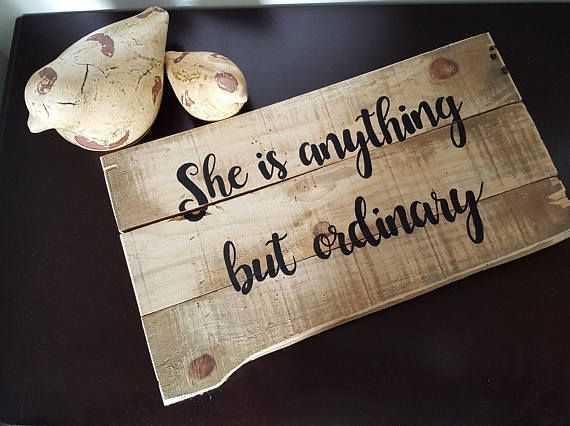 handpainted on rustic wood