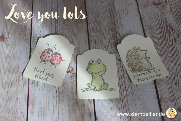 stampin up 2017 preview sneak peek love you lots gastgeberin hostess stempeltier frosch frog hedgehog igel lady bug punch