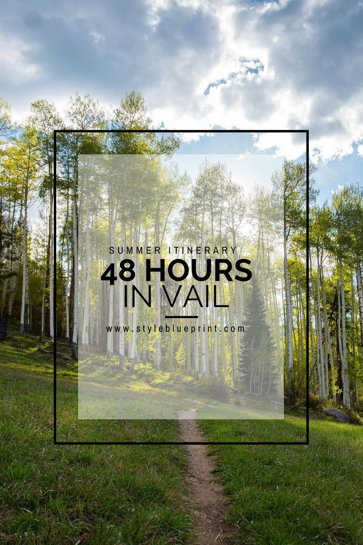 Plan a trip to Vail this summer with our guide to the town! #travel #explore #vail #colorado #vacation #destination #summer #trip #itinerary #styleblueprint Image: Facebook
