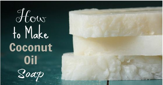 How To Make Pure Coconut Oil Soap. Please use only sustainable, fair trade coconut oil.