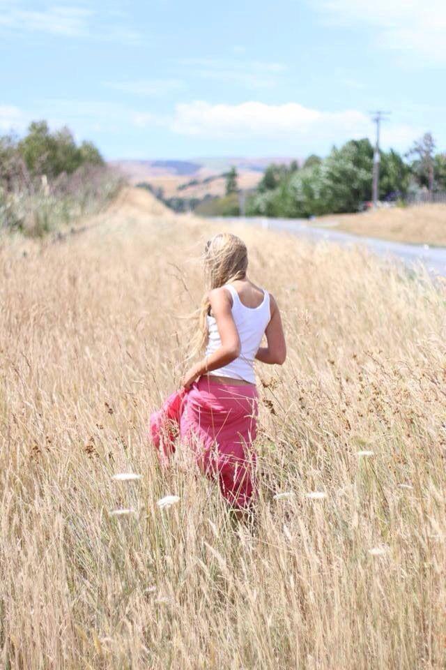 Strolling through roadside fields of gold in Martinborough by Natalie