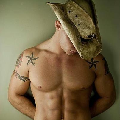 #men #hats #cowboy #tattoos