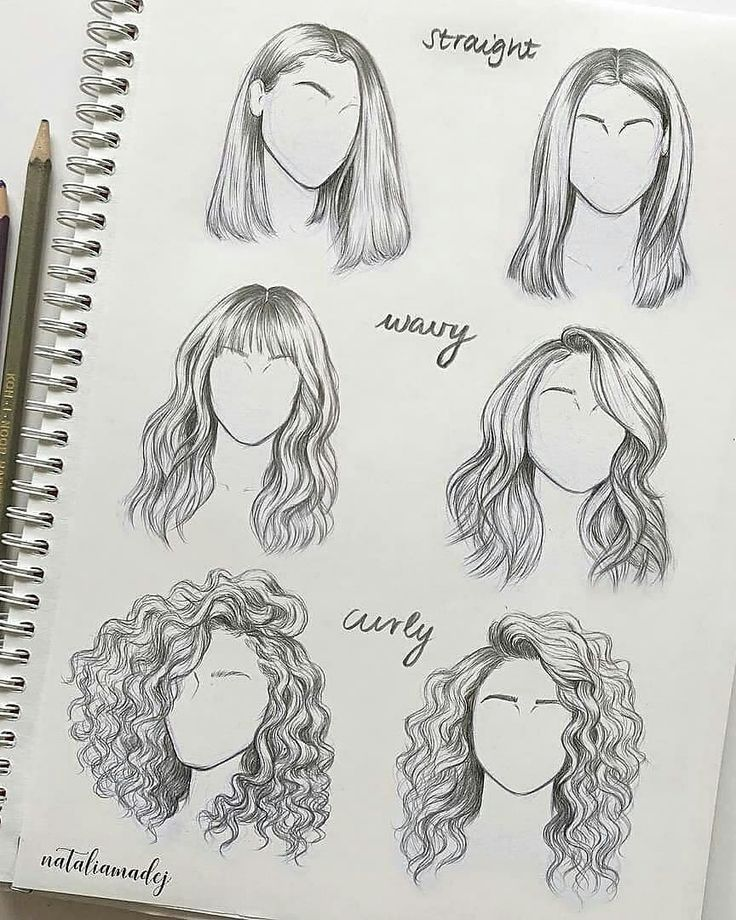 Amazing hair sketches by Natalia Madej Chrzanowska. What do you think?