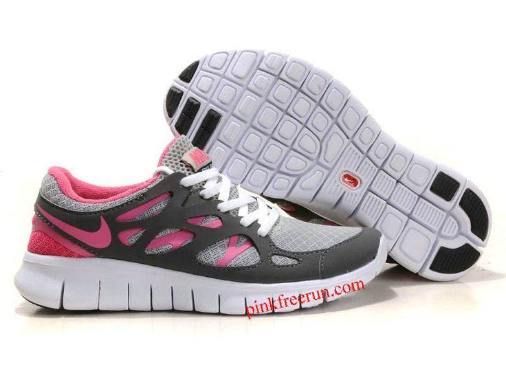 Cool Grey Pink Nike Free Run 2 Women's Running Shoes