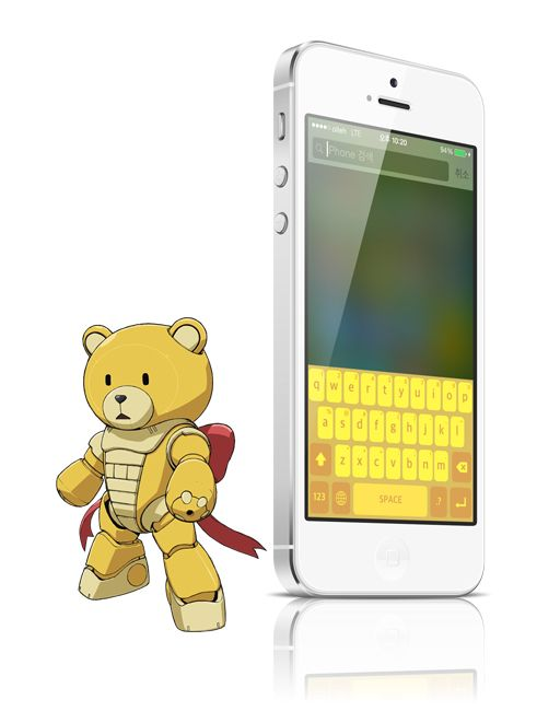 Beargguy color keyboard concept