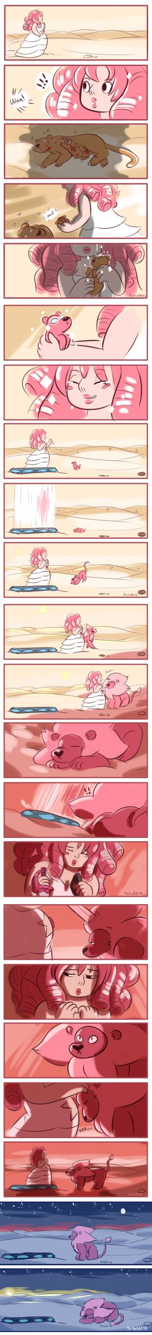Lion: Origins ||| Rose Quartz and Lion ||| SAD!!! TT-TT<<<WHYYYYYYYY