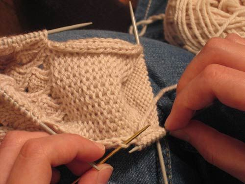 Knitting Pick Up Stitches Heel Flap : Picking up stitches along the heel flap - Grumperina goes to local yarn shops...