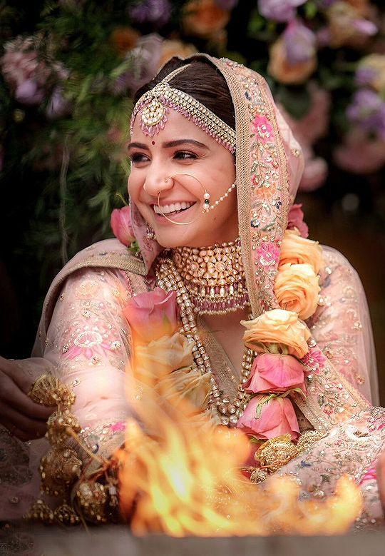 Anushka Sharma on her wedding day