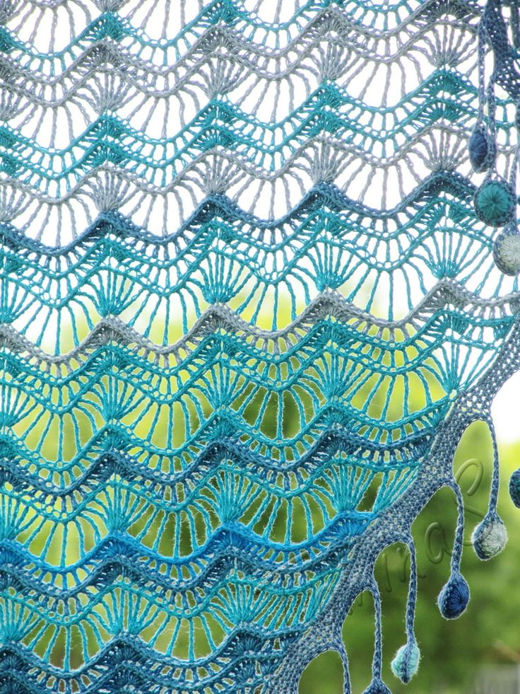 """Oceania"" (crochet shawl, lace wrap, crochet lace, Beautiful wraps for purchase"