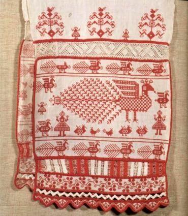 Вологодские узоры — вышивка, набойка, ткачество.: