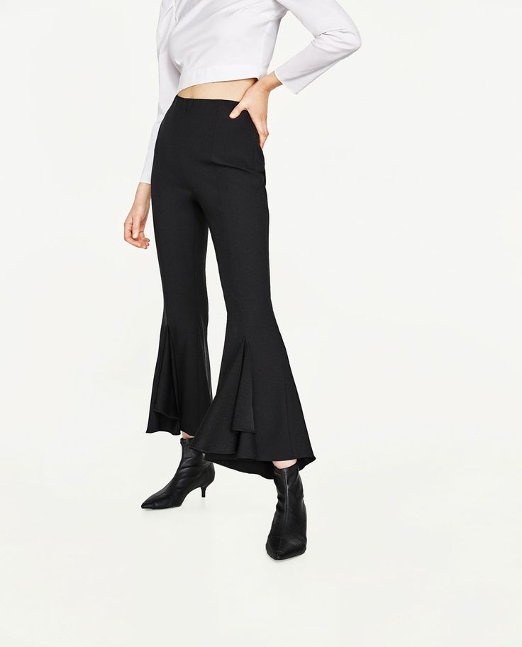 FRILLY CREPE TROUSERS-View All-TROUSERS-WOMAN | ZARA United States