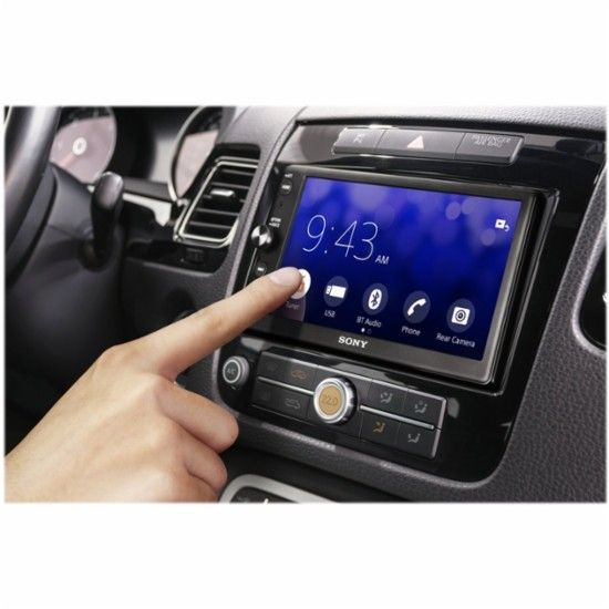 """Sony - 6.4"""" - Android Auto/Apple CarPlay™ - In-Dash Receiver - Black - AlternateView11 Zoom"""