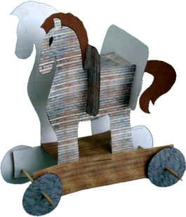Trojan horse craft (One pinner said it was a hard craft to do for younger children)