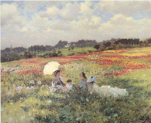 "G. De Nittis (1846-1884) - papaveri    ""Macchiaioli"" Painters  GIUSEPPE DE NITTIS (Barletta, 25 febbraio 1846 – Saint-Germain-en-Laye, 21 agosto 1884)    #TuscanyAgriturismoGiratola"