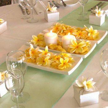 decoracion de mesa con flores