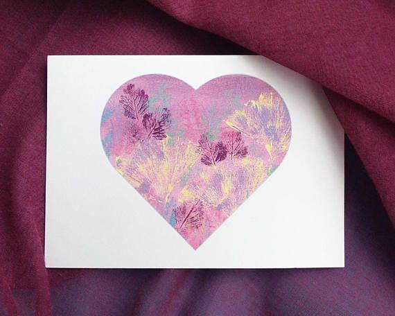 Printable Botanical Heart Postcards Corokia Studio Design