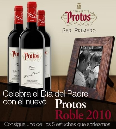 Sorteo 5 packs de vino Protos Roble 2010