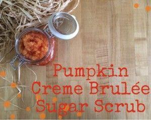 Pumpkin Creme Brulee Sugar Scrub Recipe 1