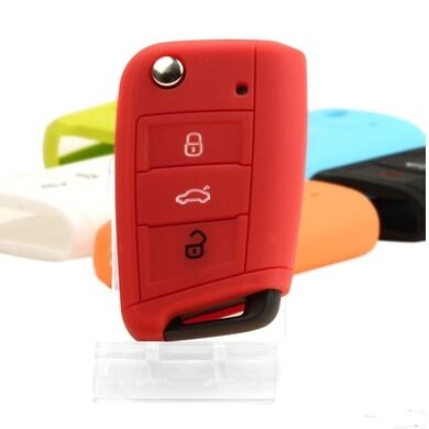3 buttons silicone vw key cover for VW POLO Golf 7 MK7 For Skoda Octavia Combi A7 SEAT Leon Lbiza Volkswagen key case
