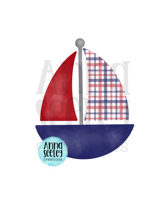 Watercolor Sailboat Png Design Patriotic Independence Day Etsy Png Patriotic Etsy
